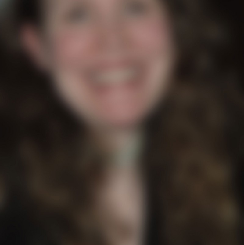 Out of focus photo of a womans face