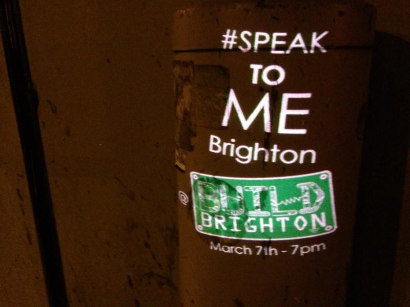 Speak to Me Brighton, image courtesy of the artists