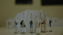 Figurines close up