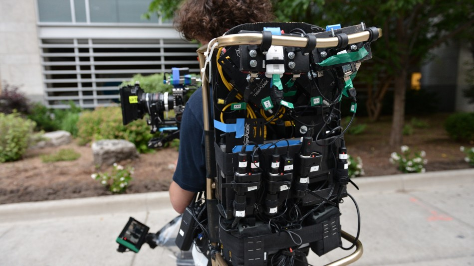 Ruben Woodin-Dechamps with the steadicam kit