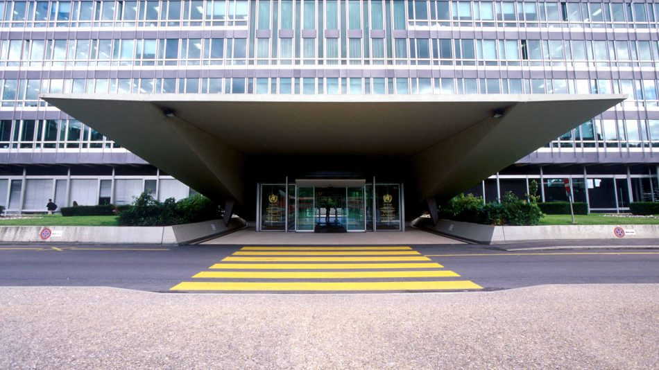 WHO Head-Quater in Geneva, Switzerland.  Copyright : WHO/Pierre Virot