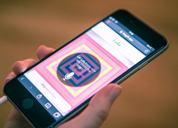 Gift on smartphone
