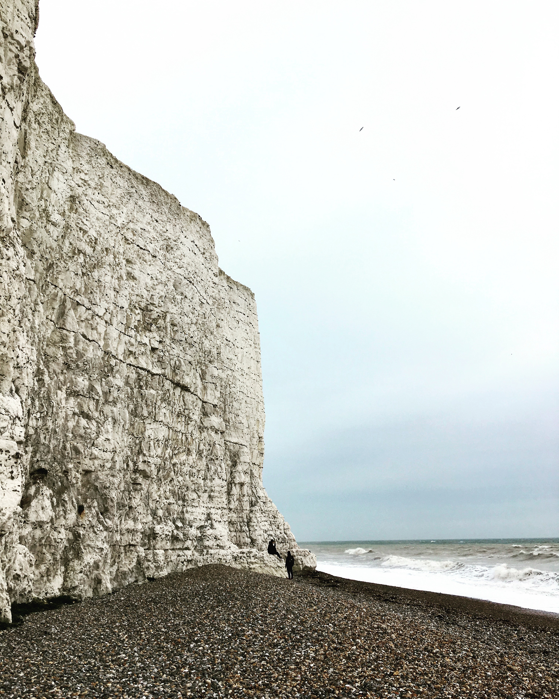 The cliffs and beach at Seven Sisters in Sussex.