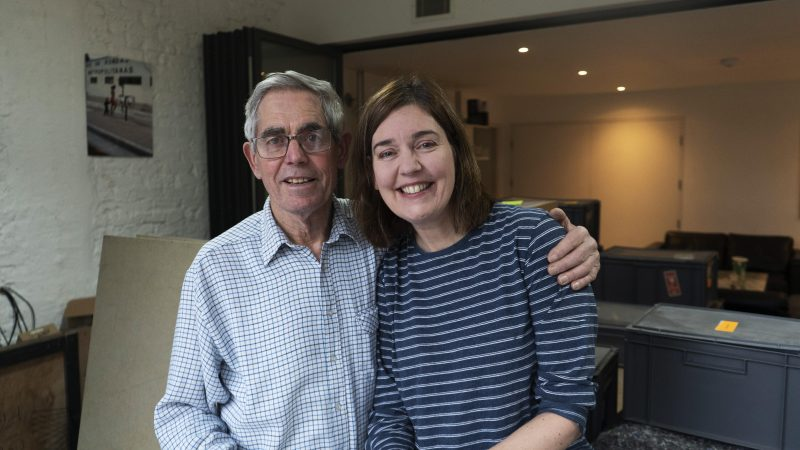 Lisa Watts with her father Gordon Watts Artist Resident