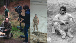 Image L-R: Behind the scenes on Bloodyminded; Roy Sellstrom; Steve Cottam